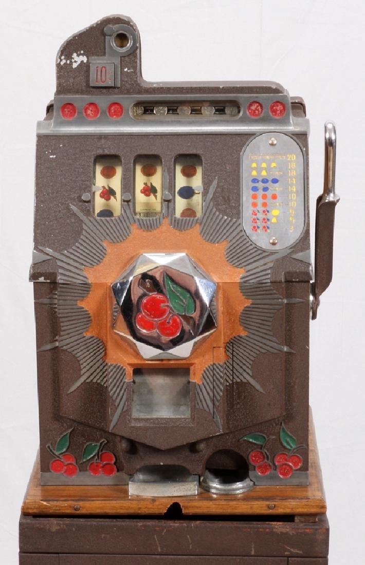 VINTAGE TEN CENT SLOT MACHINE - 2
