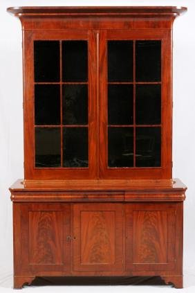 AMERICAN MAHOGANY BOOKCASE/DISPLAY CABINET