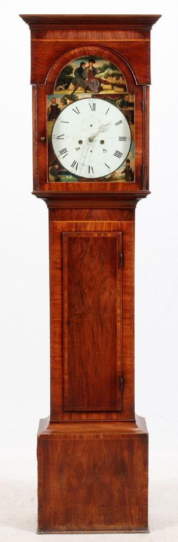MITCHELL AND RUSSELL GLASGOW MAHOGANY CLOCK C1850