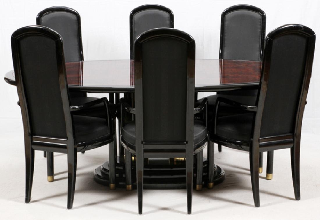 HENREDON 'SCENE THREE' DINING TABLE AND CHAIRS