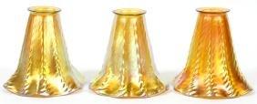 STEUBEN AURENE GOLD SHADES 3 PIECES