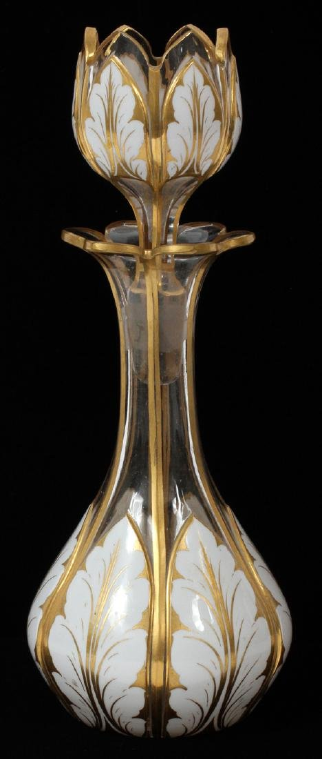 OVERLAY CRYSTAL DECANTER 19TH.C.