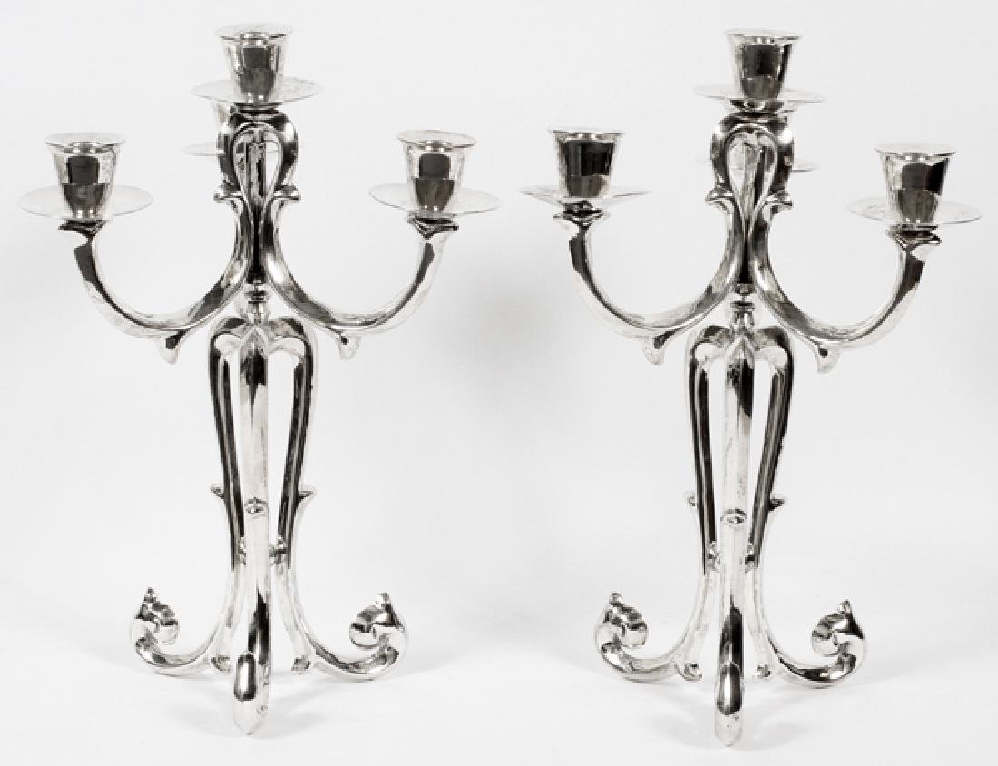 MEXICAN STERLING SILVER CONVERTIBLE CANDELABRAS