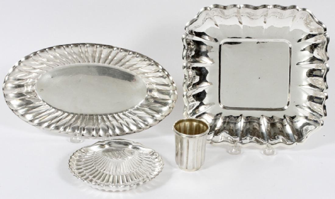 STERLING SILVER SERVING DISHES 4 PIECES