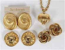 GIVENCHY AND CHRISTIAN DIOR JEWELRY 4 PCS