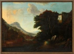 ITALIAN OIL ON CANVAS 19TH.C.