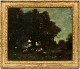 LOUIS PAUL DESSAR OIL ON CANVAS