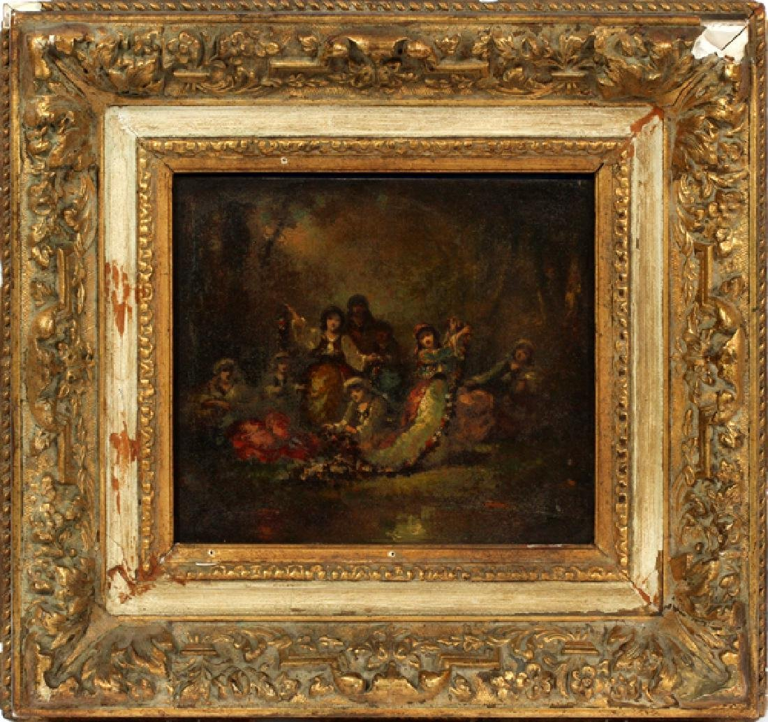 FREDERIC BORGELLA FRENCH OIL ON METAL 19TH.C.
