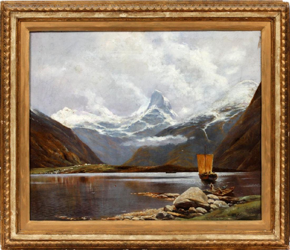 ADELSTEEN NORMANN OIL ON CANVAS