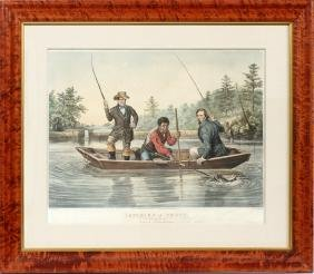N. CURRIER HAND COLORED LITHOGRAPH