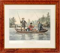 N CURRIER HAND COLORED LITHOGRAPH