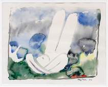 MARY FRANK WATERCOLOR ON PAPER 1962