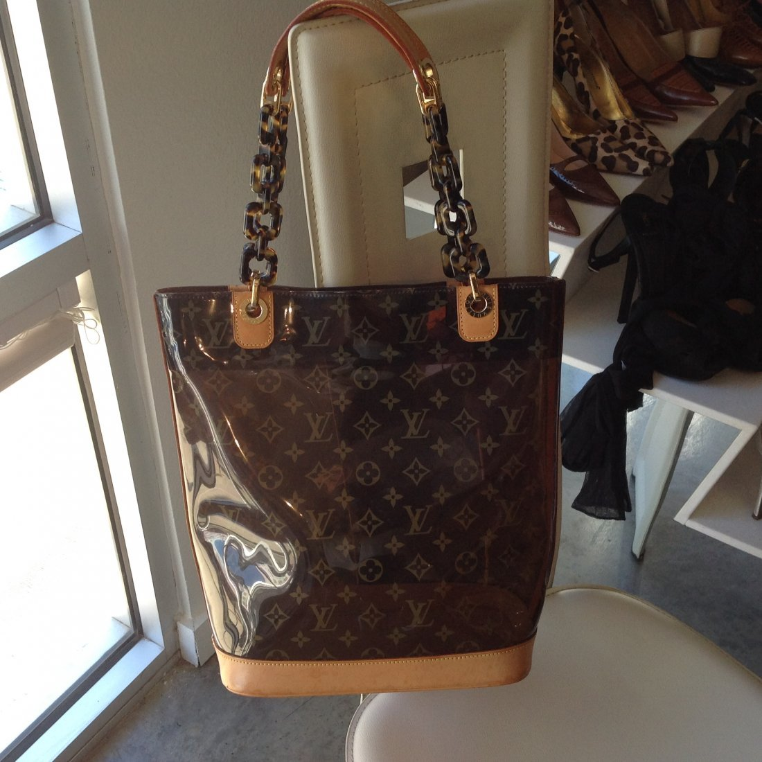 """LOUIS VUITTON CABAS AMBER SEE THRU TOTE """"LIMITED ED."""" - 2"""