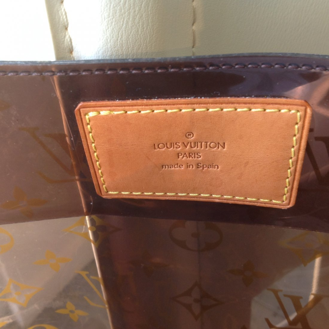 """LOUIS VUITTON CABAS AMBER SEE THRU TOTE """"LIMITED ED."""" - 3"""