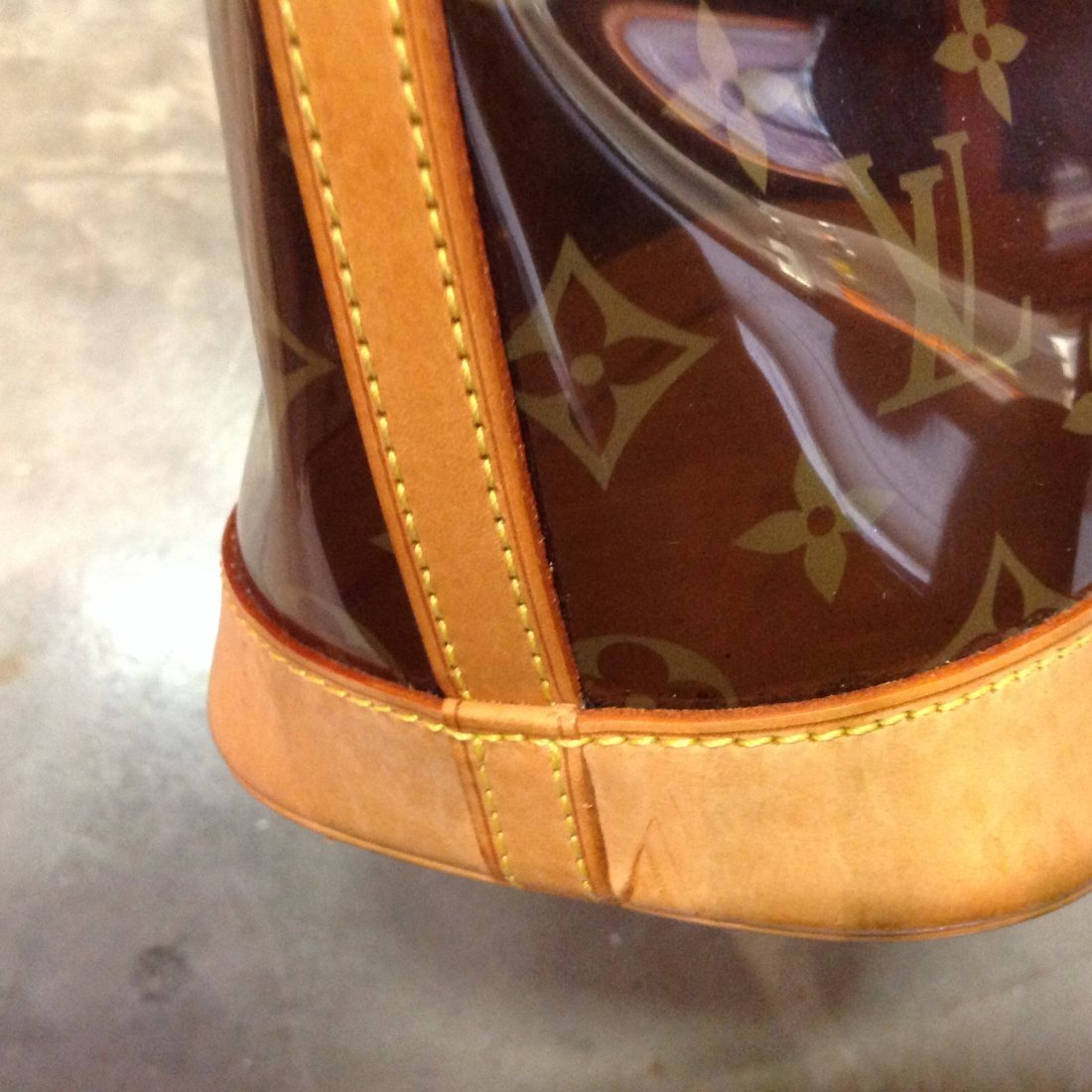 """LOUIS VUITTON CABAS AMBER SEE THRU TOTE """"LIMITED ED."""" - 5"""