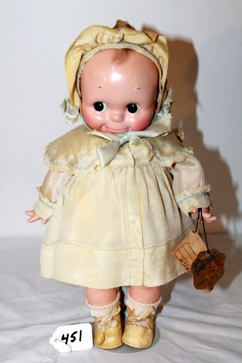 "13"" KEWPIE HARD PLASTIC - BLACK SLEEP EYES. CHUBBY -"