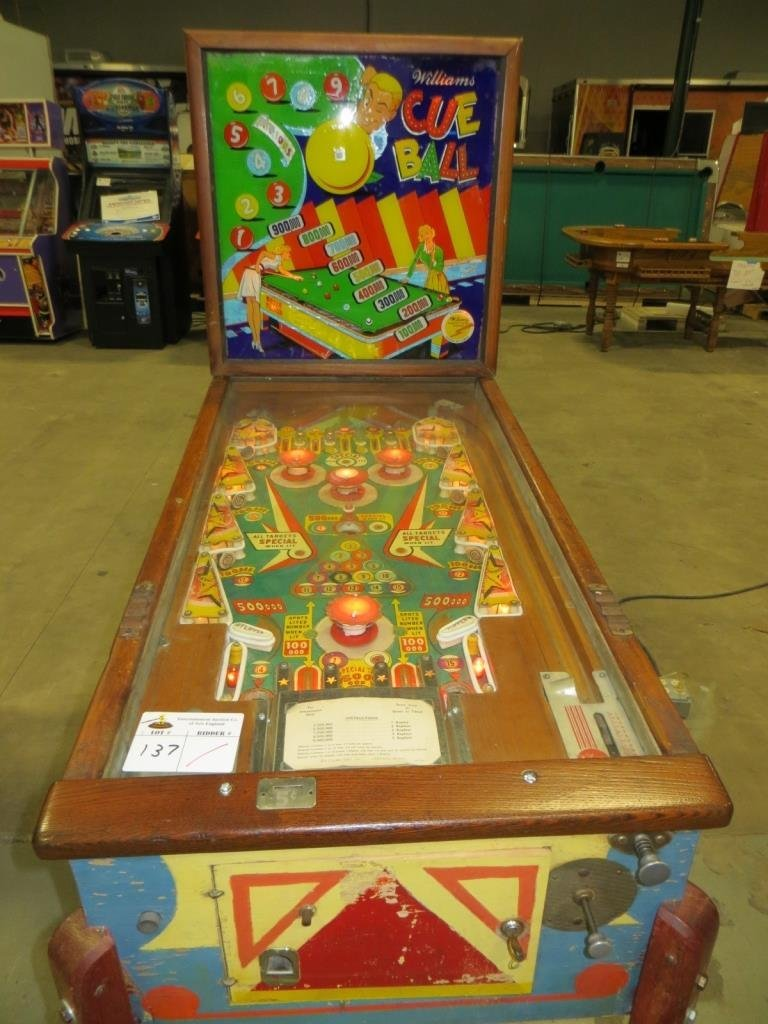 CUE BALL WOOD RAIL PINBALL