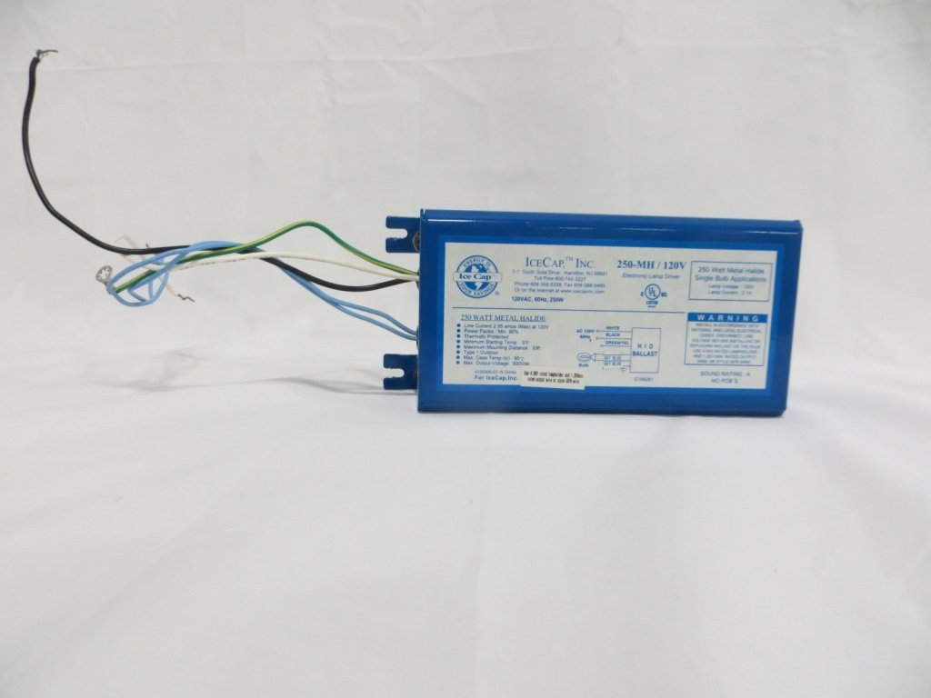 ICE CAP INC ELECTRIC BALLAST MODEL 250-MH / 120V
