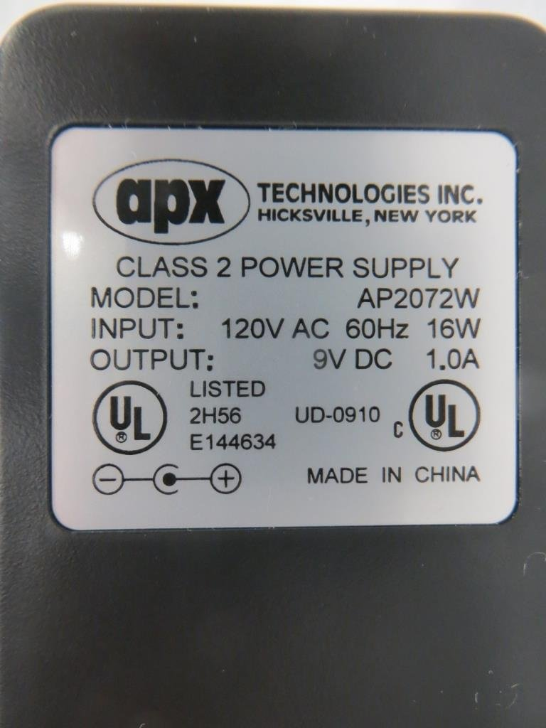 APX TECHNOLOGIES INC CLASS 2 POWER SUPPLY AP2072W - 2