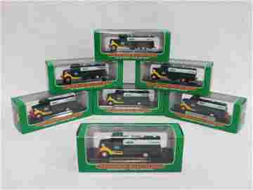 SET OF 7 - 2000 MINIATURE HESS FIRST TRUCKS