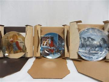 SET OF 8 ASSORTED COLLECTORS PLATES