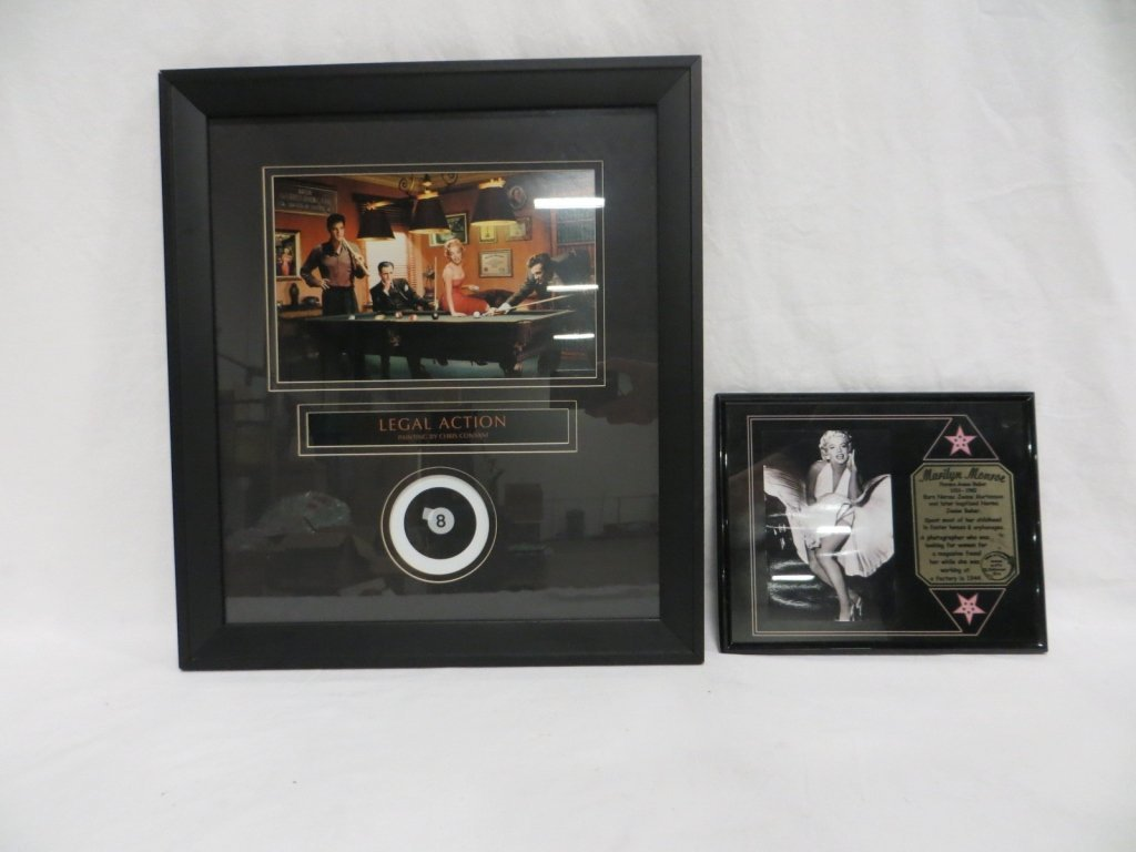 SET OF 2 MARILYN MONROE & FRIENDS FRAMED MEMORABIL
