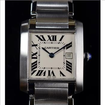Cartier Tank Francaise Watch Mid Size Stainless Steel