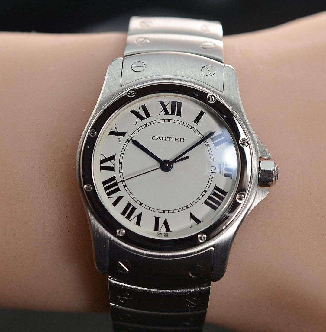 Cartier Santos Ronde 30mm Quartz Stainless Steel Watch