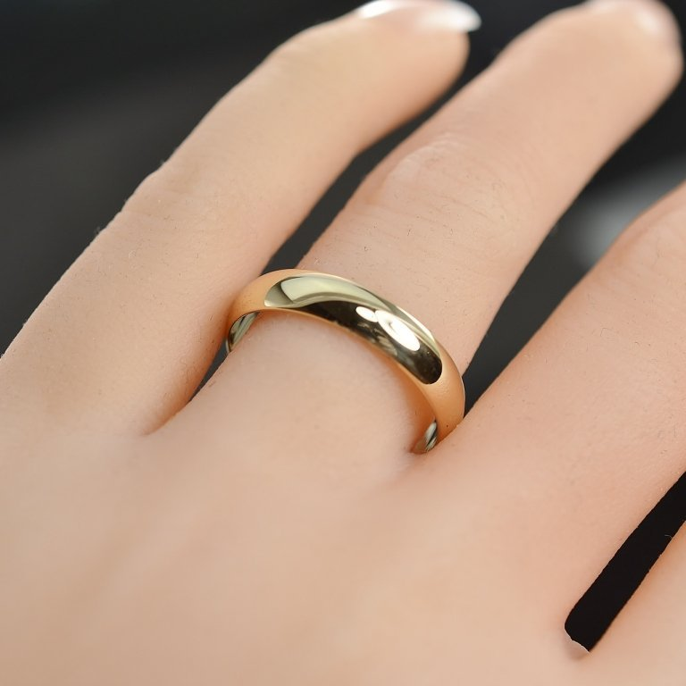 Solid 14K Gold Wedding Band 4.1 MM Size 8