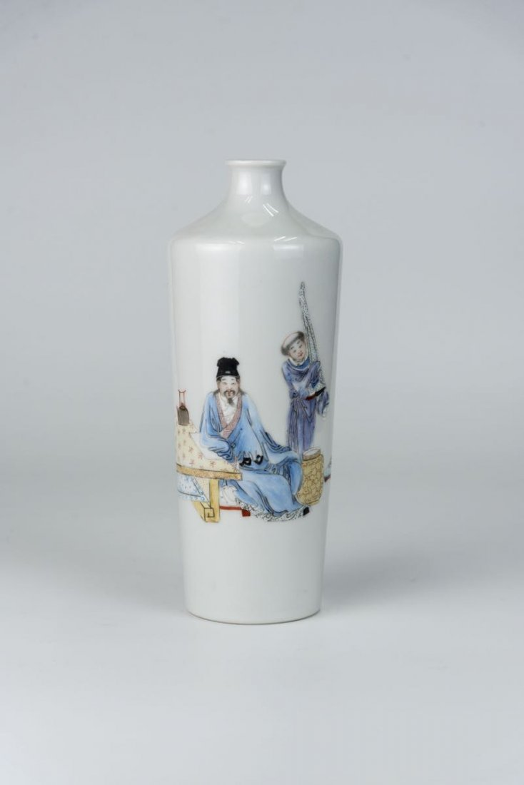Famile-rose Figure Vase