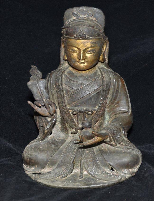 The figure depicts the Daoist  immortal Zhongli Quan