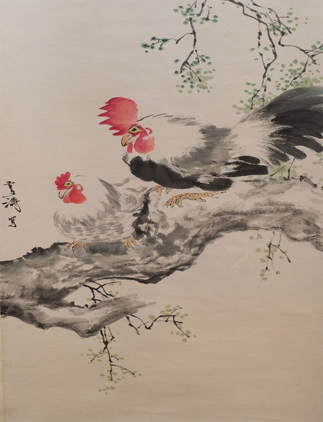 Wang XuetaoHanging Scroll,Ink & Color on Paper