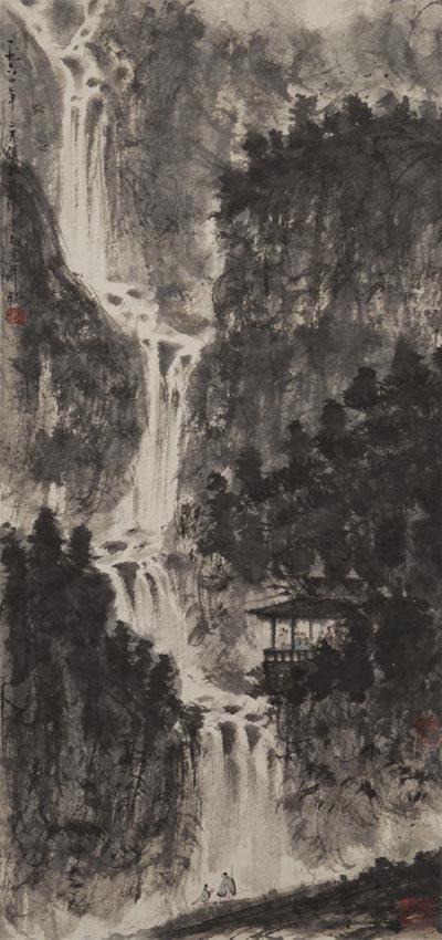 Fu Baoshi (1904-1965) Waterfall