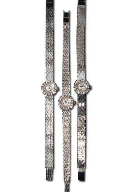 Zenith 18k white gold bracelet with diamond bezel,