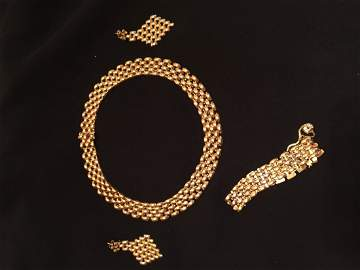 collection of gold accessories
