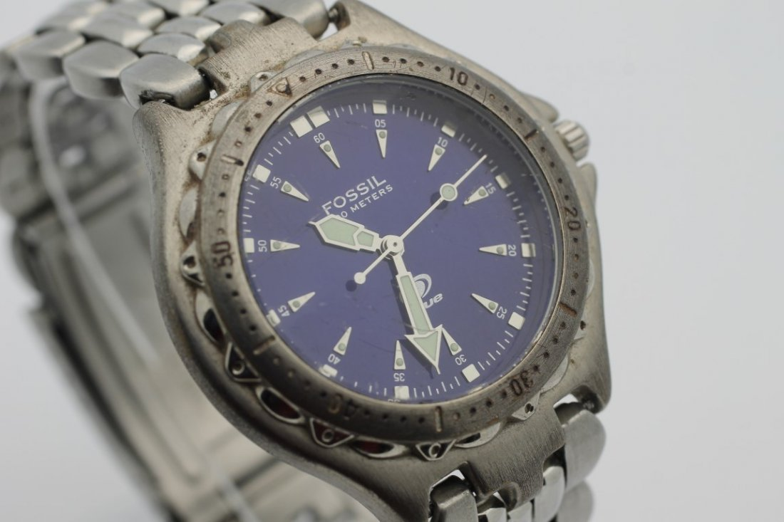 Fossil AM3067 Purple Blue Face Mens Stainless Steel - 2