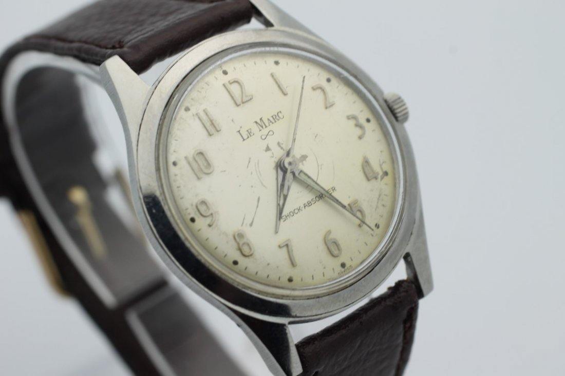 Lemarc Wind Up Mens Vintage Watch - 2