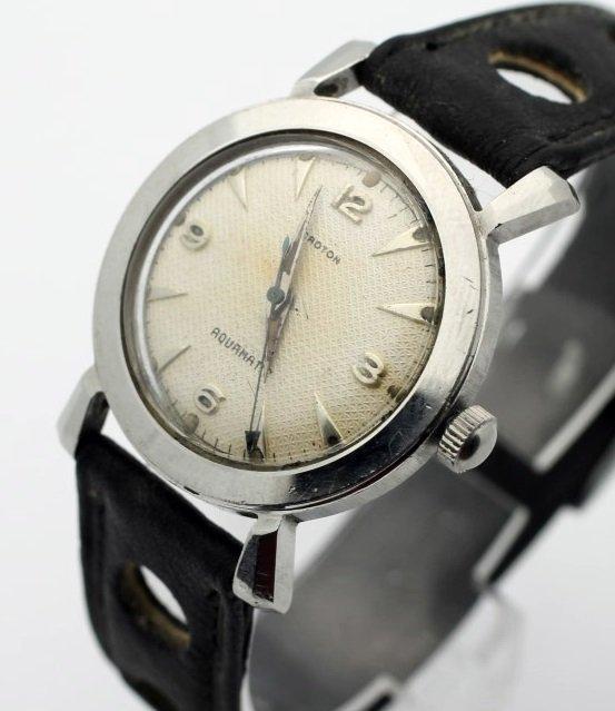 Croton Aquamatic Mens Automatic Vintage Watch