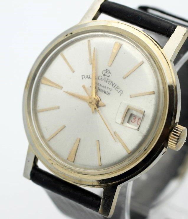 Vintage Paul Garnier 29 Jewel Mens Date Wid Up Watch