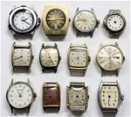 Vintage Mens Watch Lot Of 12 BULOVA DESTA GENEVA