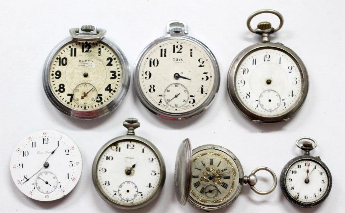 Vintage ORIS DENT Swiss Made Pocket Watch Lot Of 7