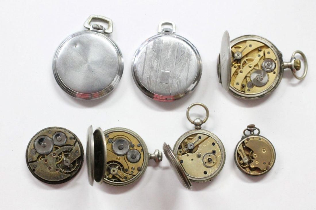 Vintage ORIS DENT Swiss Made Pocket Watch Lot Of 7 - 3