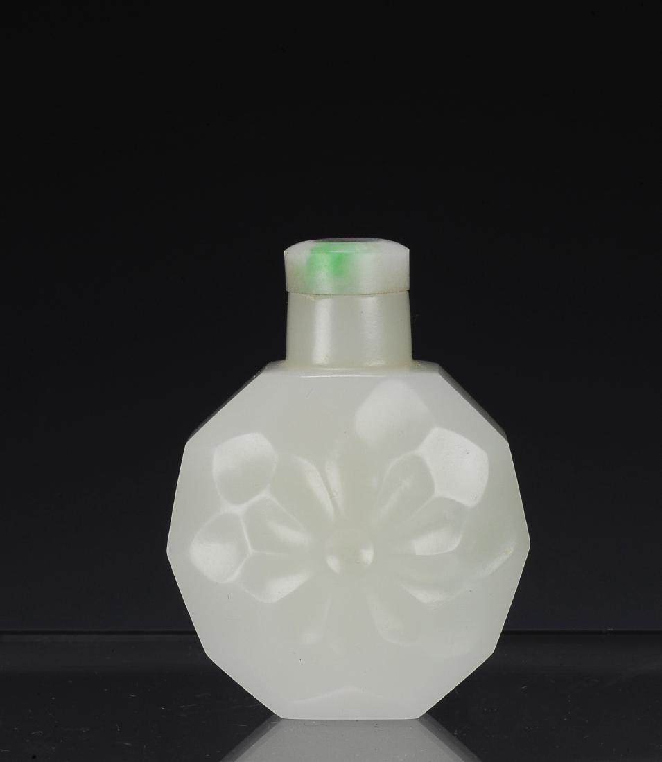 White Jade Snuff Bottle, 19th Century