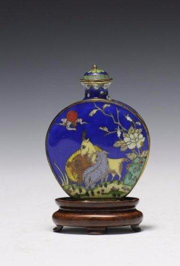 Cloisonné Snuff Bottle, 19th Century