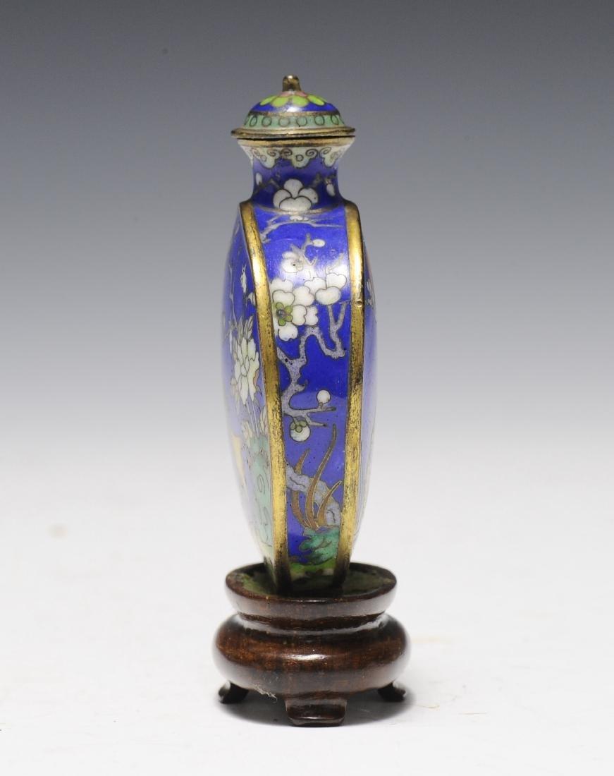 Cloisonné Snuff Bottle, 19th Century - 4