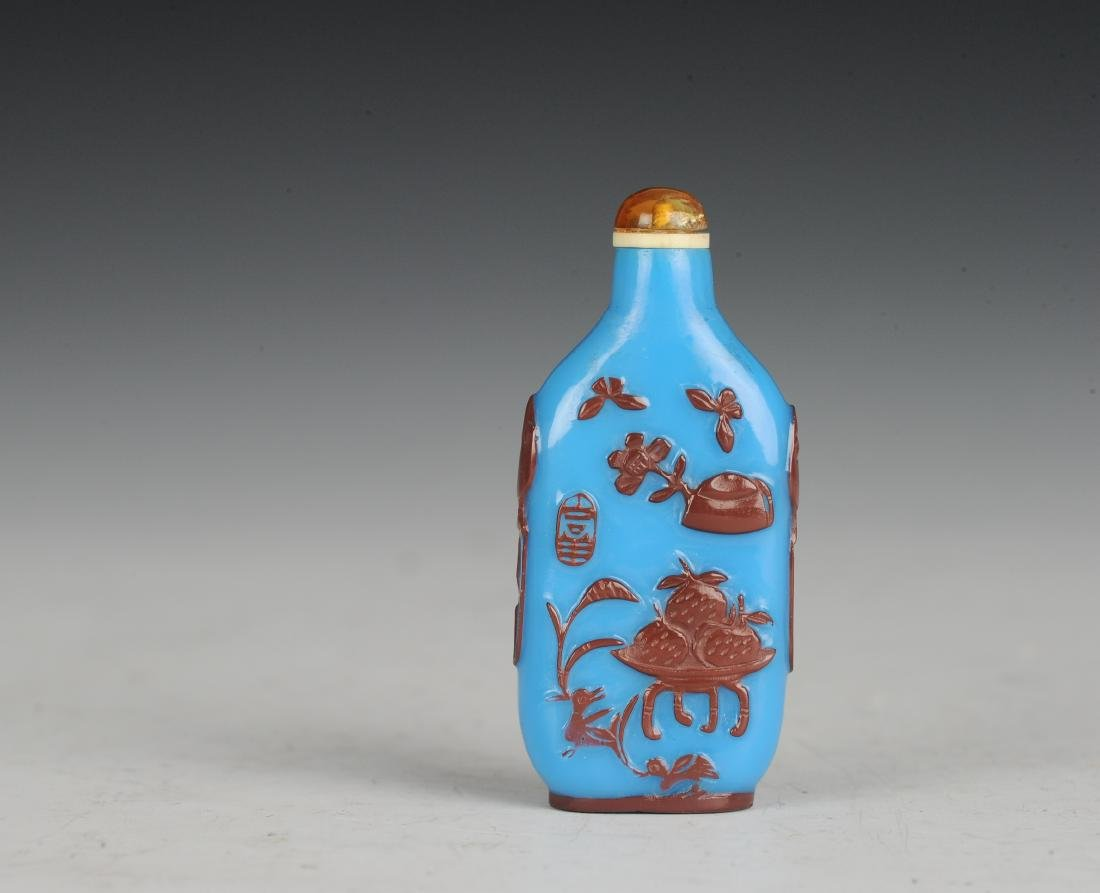 Blue Glass Snuff Bottle, 19th Century - 2