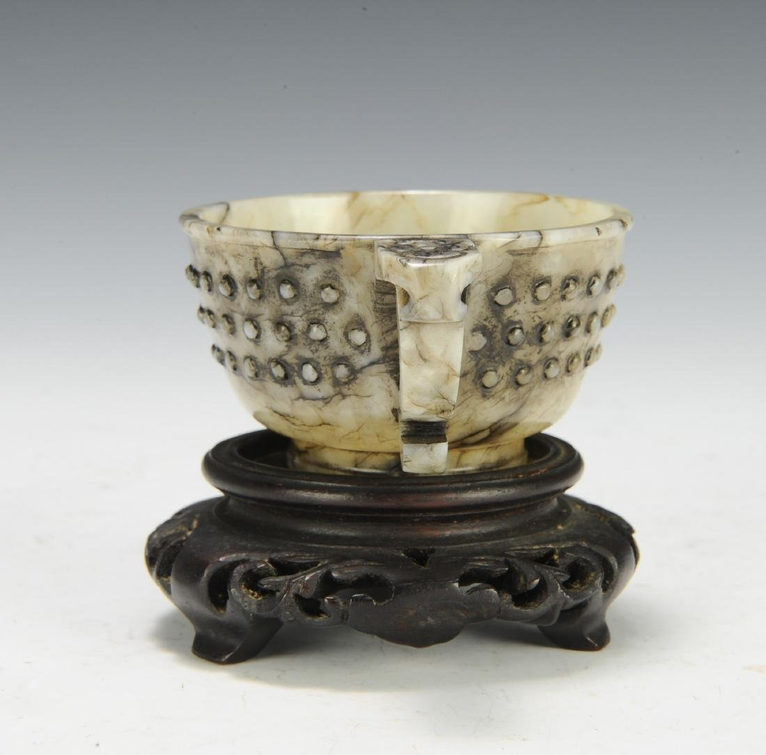 Jade Cup w/ Handle, Ming Dynasty - 4