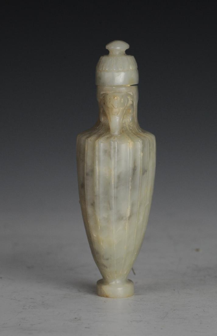 Small Grey & White Lidded Jade Vase, Ming Dynasty - 2
