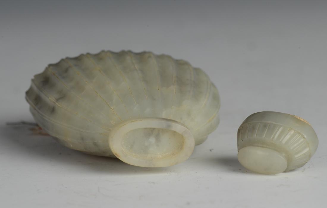 Small Grey & White Lidded Jade Vase, Ming Dynasty - 6
