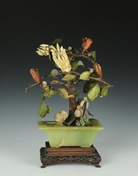 Jade & Amber Planter, Early 19th Century